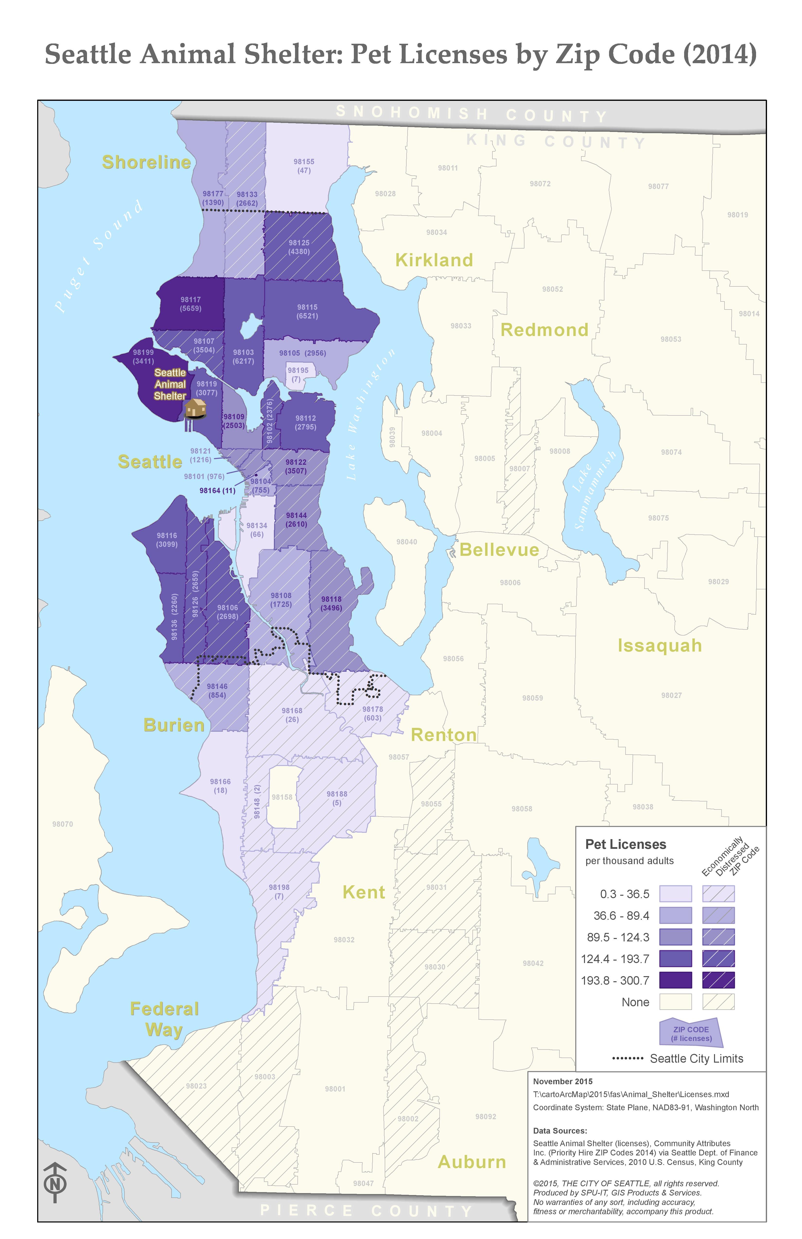 Seattle Animal Shelter map series – Kate Leroux ~ Cartographer
