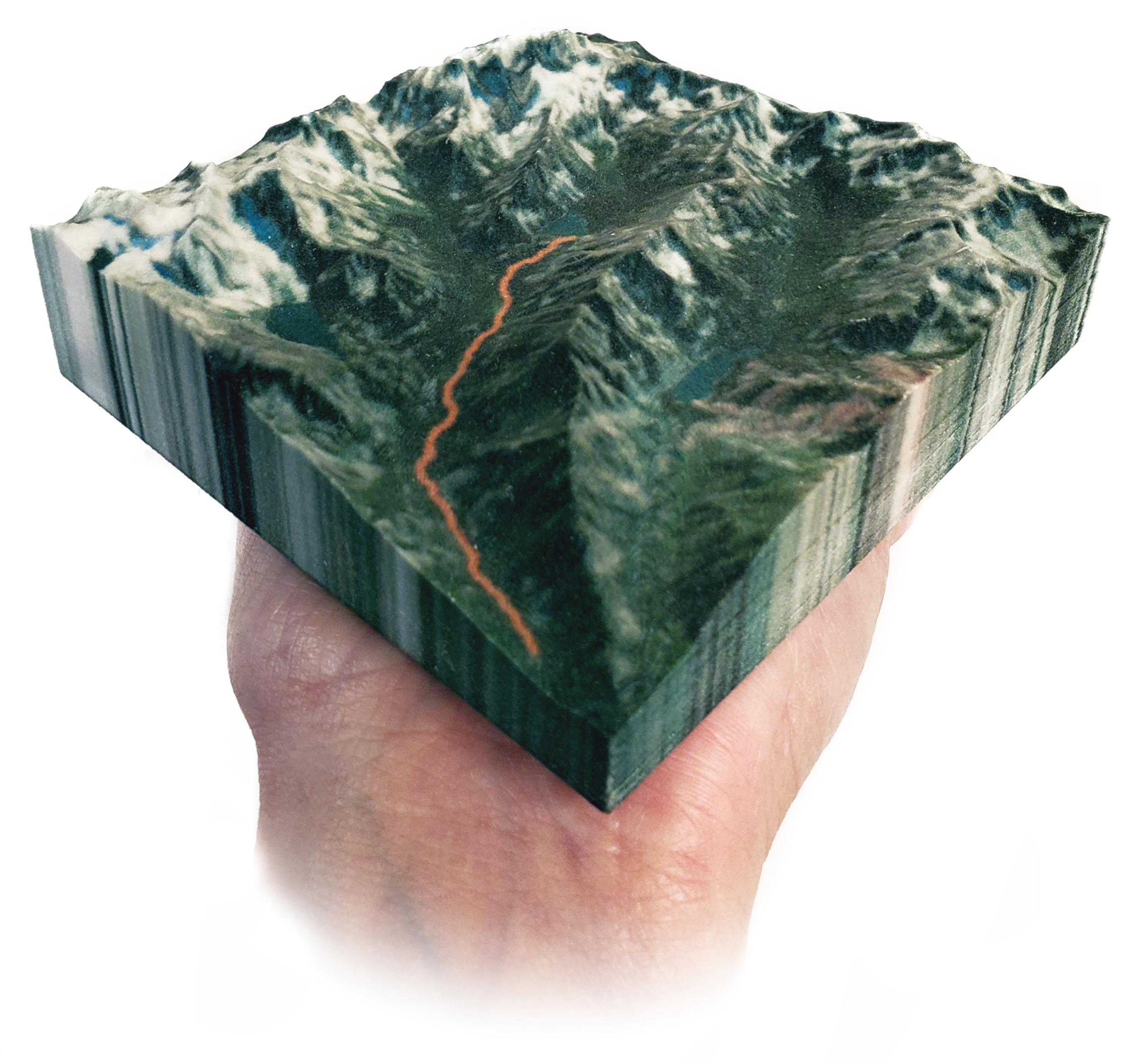 3D-printed map